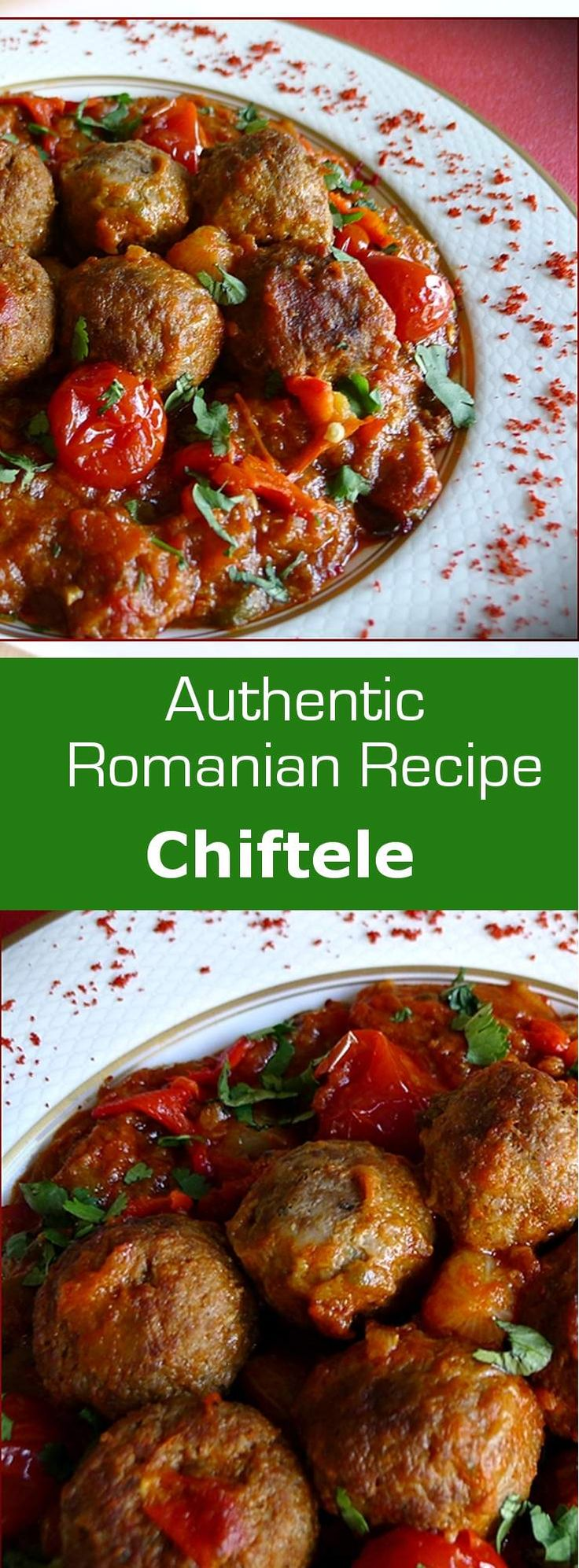 Chiftele are Romanian meatballs where the meat is ground with raw vegetables before being fried. #meatball #romania