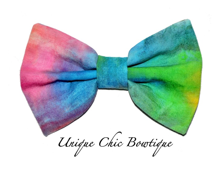 Tie Dye Hair Bow 7 99 Via Etsy