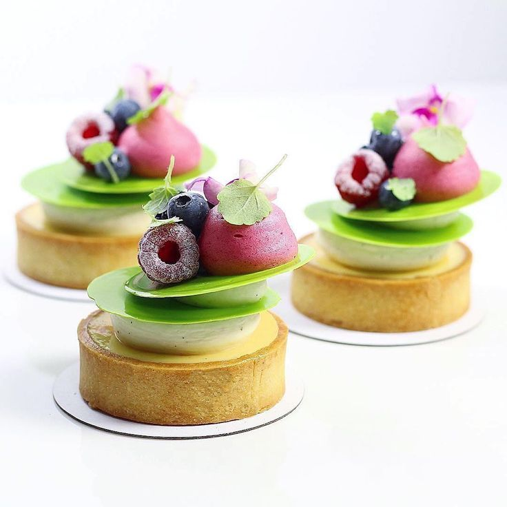 Key Lime Tart with Berries and White Chocolate Whipped Ganache. Recipe by Pastry Chef Antonio Bachour