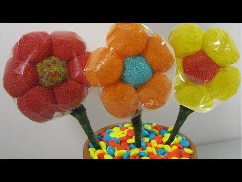 How to make a candy gum drop flower bouquet (I✿‿✿|)