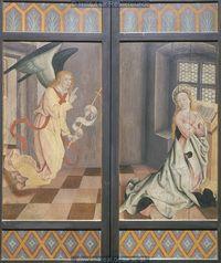 1480-1500 | Desconhecido| Retábulo da Nossa Senhora (volantes fechados) | Stadtpfarrkirche St. Laurentius, Neustadt an der Donau