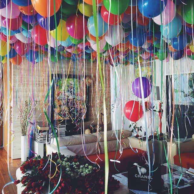 Imagine walking home to this surprise on your birthday or just because. Hopeless romantics