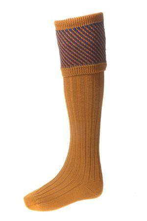 Campbell's of Beauly - Tayside Shooting Socks Ochre