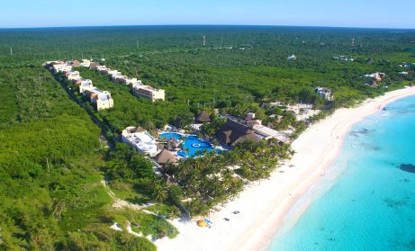 Our honeymoon destination was at the Catalonia Royal Tulum, Mexico