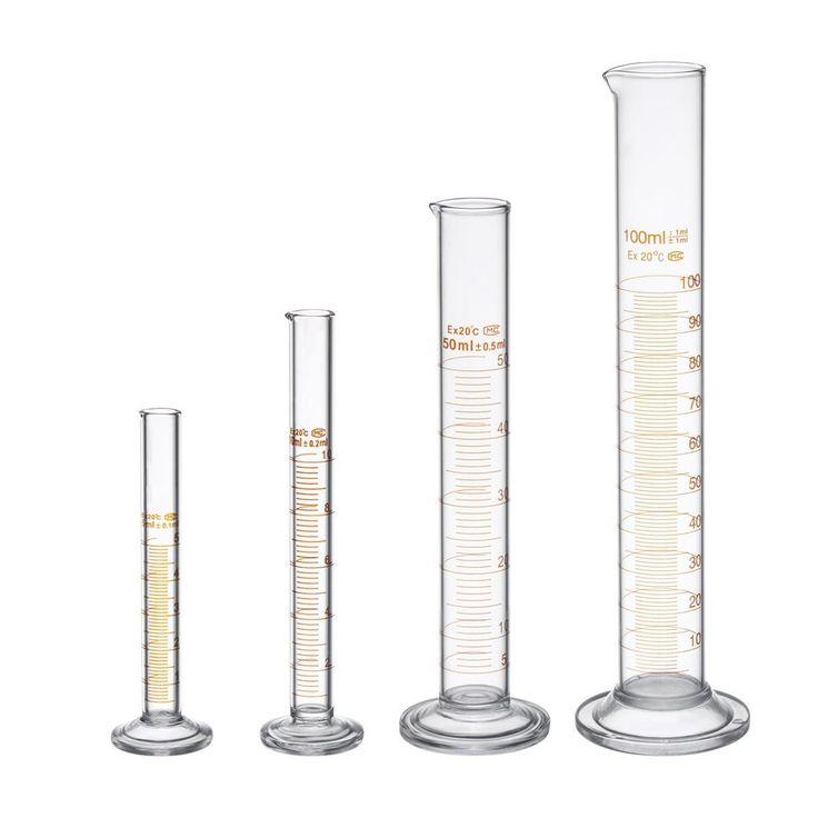 Borsilikatglas Meßzylinder Messzylinder Set Laborzylinder Set mit zwei Bürste 5ml 10ml 50ml 100ml: Amazon.de: Gewerbe, Industrie & Wissenschaft