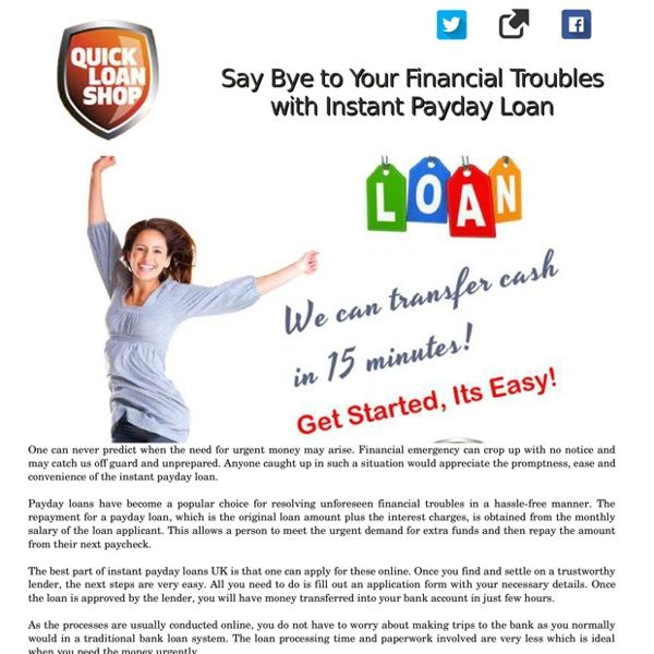 Facing Financial Troubles? Get Instant Payday Loan