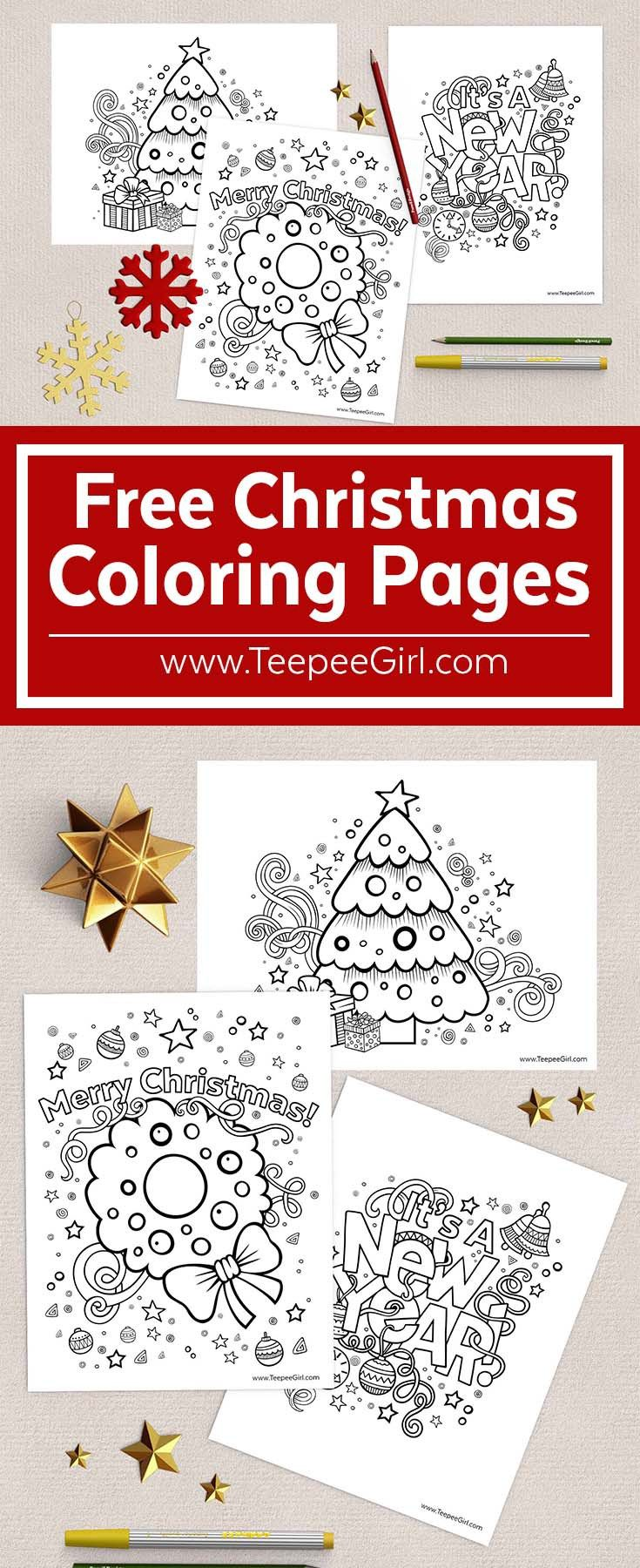 These free Christmas coloring pages are the perfect way to keep kids happy and busy during this holiday season!