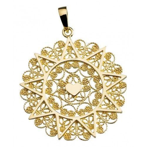 Ciondolo presentosa in oro giallo 750 cm 3,2