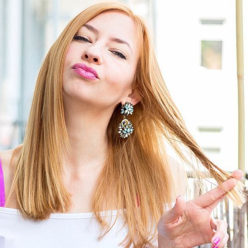 strawberry blonde hairstyle for straight hair