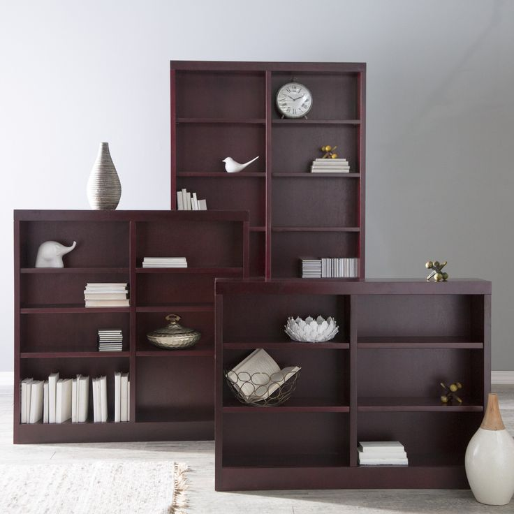 Have to have it. Belham Living Jefferson Double Wide Bookcase - Rich Cherry - $189.99 @hayneedle