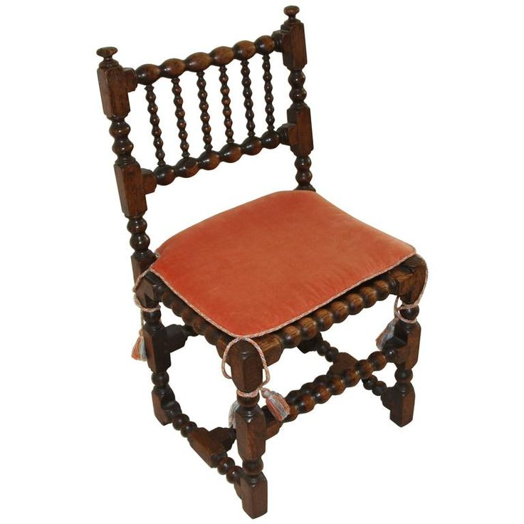 Very Early English Chair with Contemporary Cushion | From a unique collection of antique and modern chairs at https://www.1stdibs.com/furniture/seating/chairs/