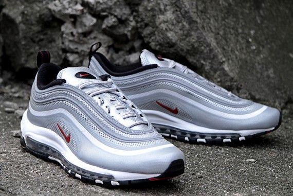 Nike Air Max 97 Hyperfuse OG - Metallic Silver / Varsity Red - Black | KicksOnFire
