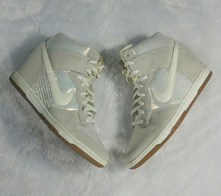 Nike Womens Dunk High Sky Premium Irredesent Metallic Luster Wedge Sneaker Sz 12 | Clothing, Shoes & Accessories, Women's Shoes, Athletic | eBay!