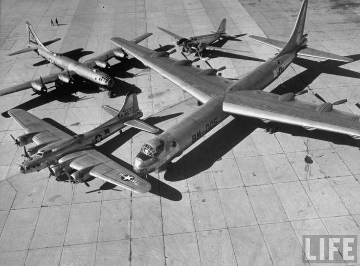 OLDE BOMBERS - 1950/60'S STRATEGIC BOMBER CLUSTER - C-47, B-17, B-29