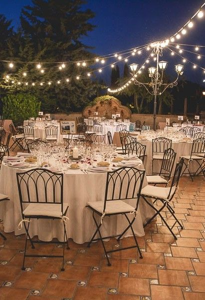 30 ideas de decoración para bodas al aire libre | bodas de noche