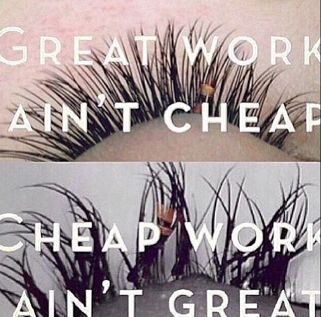 Keep quality in mind when getting eyelash extensions! Inexperienced lash stylists can cause permanent damage if they don't follow proper technique. #lashbeauty #sandiego #eyelashextensions