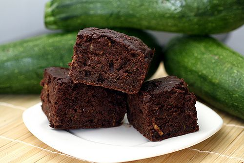 Double Chocolate Zucchini Brownies -- an intensely chocolate brownie packed with zucchini & sweetened with honey!