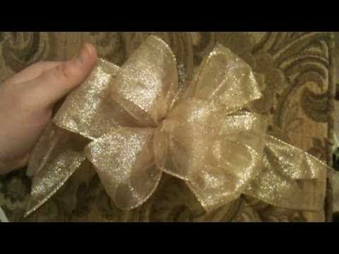 Kristen with GoodKnit Kisses shows you how to Hand Tie a Bow. This is a handy craft to know for making bows for packages or just about anything.  You don't need a bow-maker, you ARE the bow-maker.  There will be a follow up video on a larger bow, if you keep going, and how to fluff it up when you have more loops.  Stay Tuned..    For more craft ...