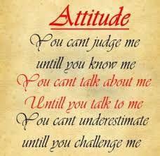 Girls attitude