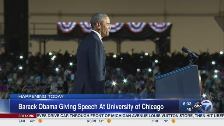 #CHICAGO #IL #44thPresident #BarackObama #delivered his #FIRST #PUBLIC #REMARKS since the 2017 inauguration on Monday #April24th #2017 at the #UniversityofChicago around 11 a.m. Central, noon Eastern Monday's event is not sponsored by Obama's presidential foundation, advisers said. The former president is acting as an individual and is working with the University of Chicago, they said.
