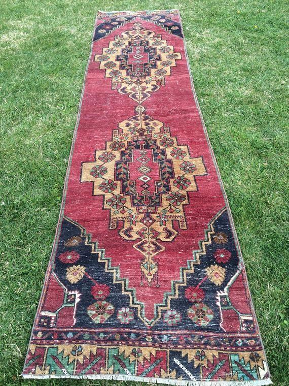 10 10 X 2 8 Ft Vintage Runner Rugs Turkish Runner Rugs Oushak Rug