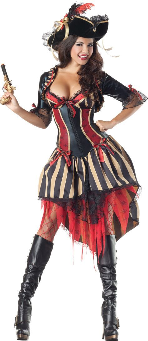 Adult Pirate Body Shaper Costume - Party City