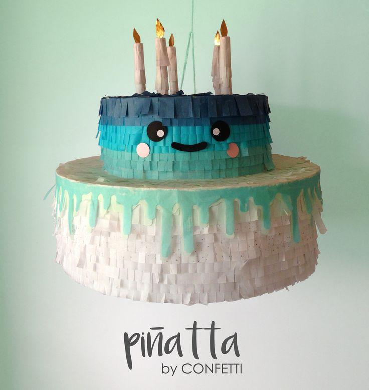 Colorful Cake Piñata / Piñata de pastel / pinata cake / party ideas/ kids party