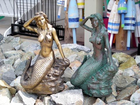Mermaid sand sculptures mermaid statues and buoys the for Original sculptures for sale