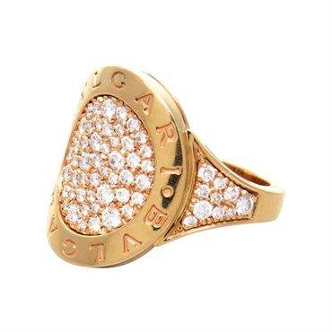 bulgari bvlgari 18k gold pave diamond ring available oakgemcom