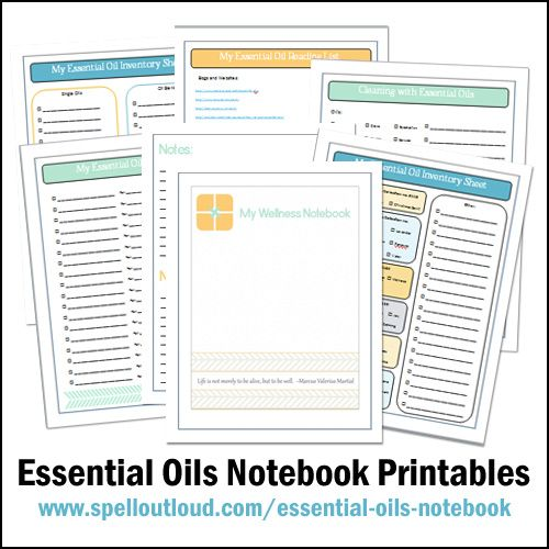 Great to include learning in wellness ... free printables on wellness and essential oils.