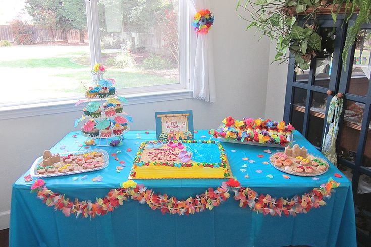 Diddles and Dumplings: Hawaiian Party Desserts.  Check out all of her fun treats.  Sis and I are thinking about this theme for her 10th birthday