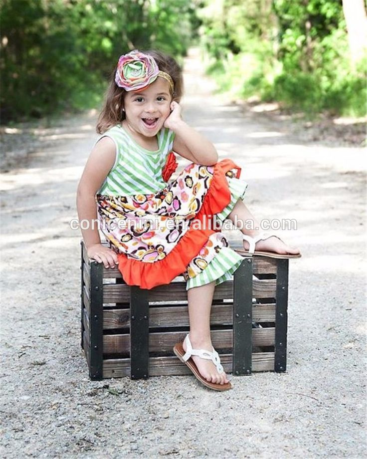 Little Girls Boutique Remake Clothing Sets 2017 Summer Outfits Wholesale Children's Boutique Clothing