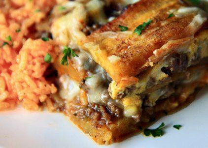 """Pastelón (Sweet Plaintain """"Lasagna"""")"""