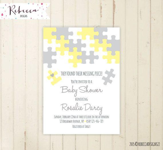 coed adoption baby shower invitation