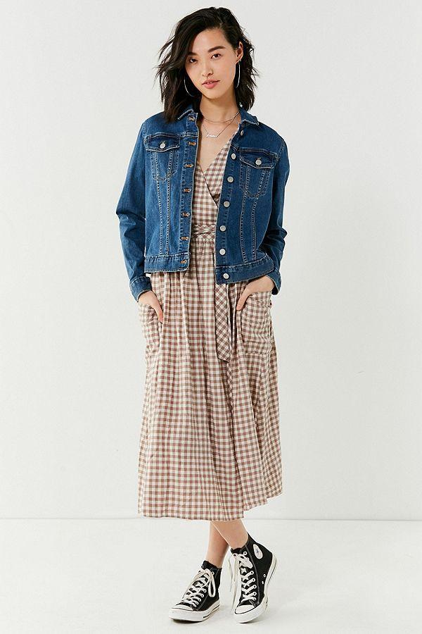 6d58535dcb80b UO Gabrielle Linen Midi Wrap Dress   Sp. Thread   Wrap Dress ...