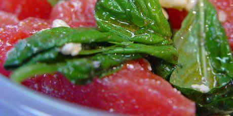 Watermelon Basil Feta Salad