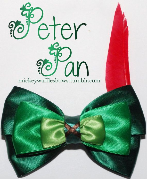 Peter Pan Hair Bow on Etsy, $9.00... YOU DON'T UNDERSTAND HOW MUCH I NEED THIS!!!!!!
