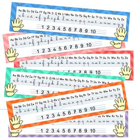 Et voici un petit outil d'aide à l'écriture des lettres et des chiffres en cursif. J'utilisais auparavant les réglettes de Lutin Bazar, que je trouve toujours aussi chouettes! Mai…