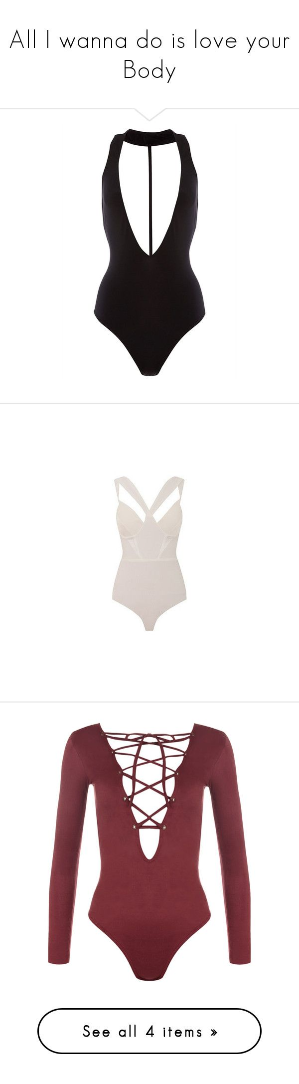 """All I wanna do is love your Body"" by lv-a ❤ liked on Polyvore featuring intimates, shapewear, bodysuits, tops, one piece, bodies, swimsuits, bodysuit, shirts and wine"
