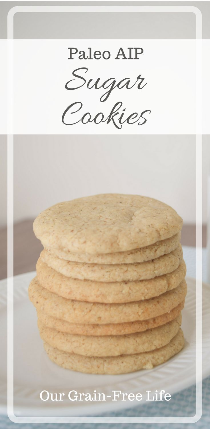 AIP cookies are the one treat I can't live without! These AIP sugar cookies are made with tigernut flour and maple syrup--but are AIP elimination compliant. Paleo sugar cookies couldn't be any easier to make!