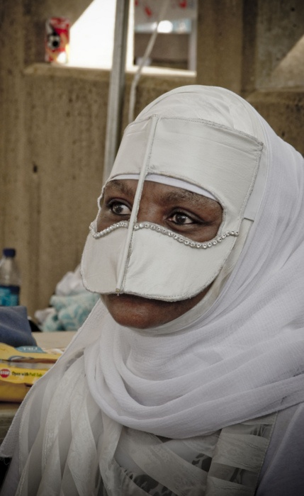Burka with nose mask