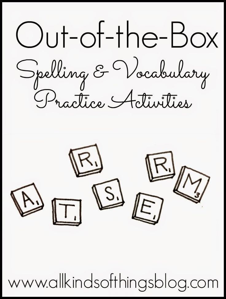 Out-of-the-Box Spelling & Vocabulary Practice Activities