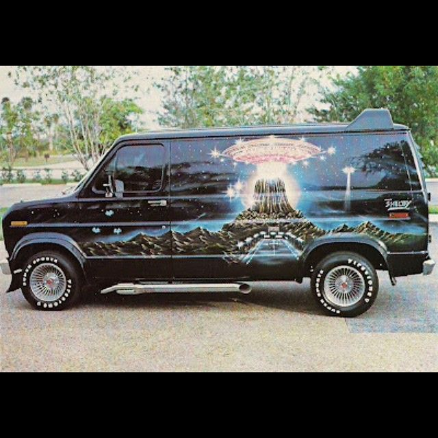 here 39 s a cool 39 70s custom ford econoline van gotta dig airbrush mural turbine wheels side. Black Bedroom Furniture Sets. Home Design Ideas