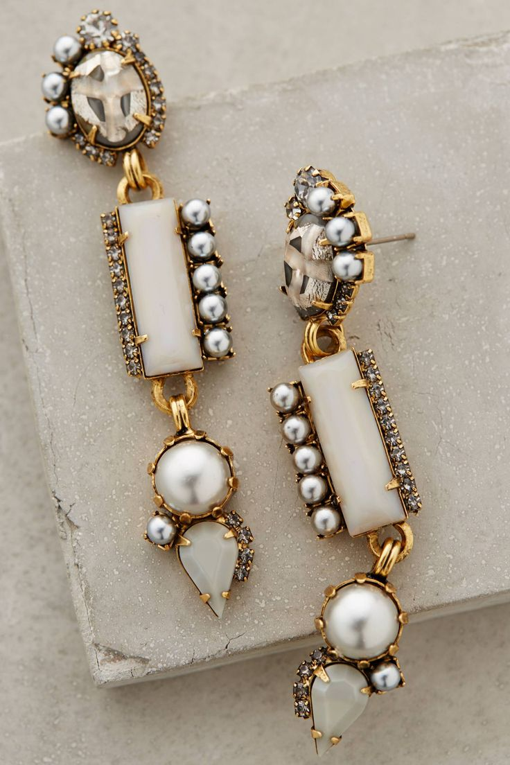 at anthropologie Pearled Candrima Drops earrings