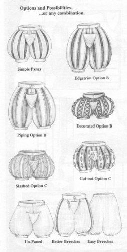Medieval and Renaissance Paned Slops and Breeches Pattern