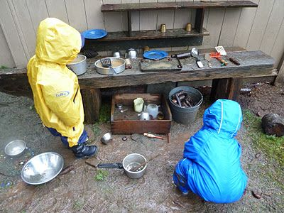 """""""Young children thrive & their minds & bodies develop best when they have free access to stimulating outdoor environments for learning through play & real experiences"""".      Jan White: Mud Kitchen, Vanilla Frosting, Dresses Kids"""