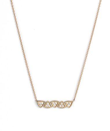 dana rebecca diamond bar pendant necklace