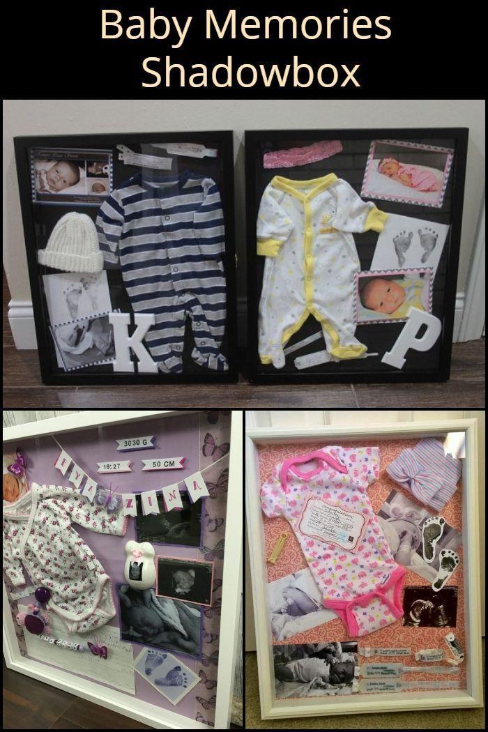 Mantenga Frescos Los Recuerdos Con Su Bebé Recién Nacido Poniendo Sus Primeras Pertenencias En Un Shadowbox Nuevos Bebés Baby Diy Dormitorios De Bebé Mujer