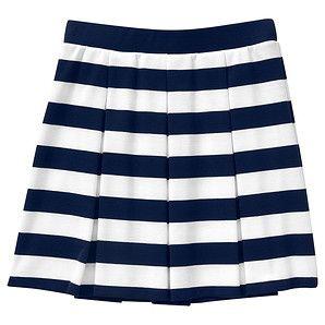 Girls' Stripe Ponte Skirt