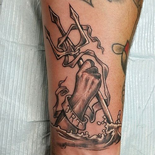 Trident in hand tattoo ideas pinterest hands for Lake geneva tattoo